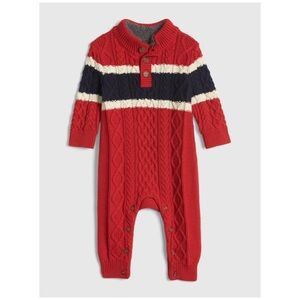 Baby GAP mockneck cable-knit one-piece